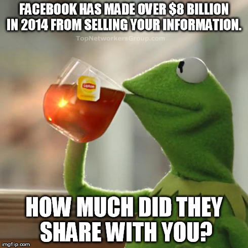 None of my business, facebook not sharing with people